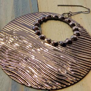 circle dangle disco 80's boho statement earrings